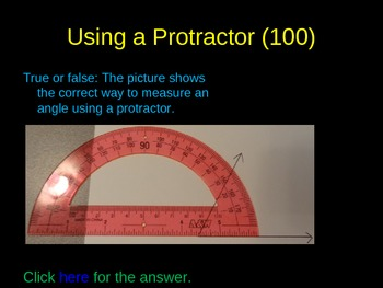 Types of Angles, Area, and Perimeter Review Game