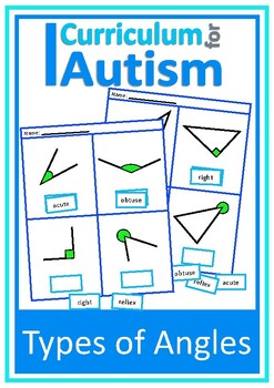 Naming Types of Angles Geometry Cut and Paste  Autism Special Education