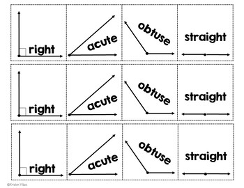 Types of Angles Flap Book and Interactive Notebook Activity