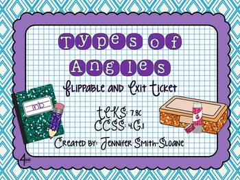 Types of Angles Flippable (Foldable) and Exit Ticket