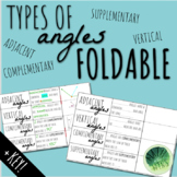 Types of Angles Foldable Notes (Adjacent, Vertical, Supple