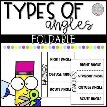 Types of Angles Foldable - FREEBIE! TEKS 4.6C