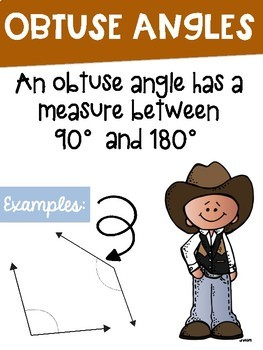 Types of Angles Math Posters with a Cowboy Theme