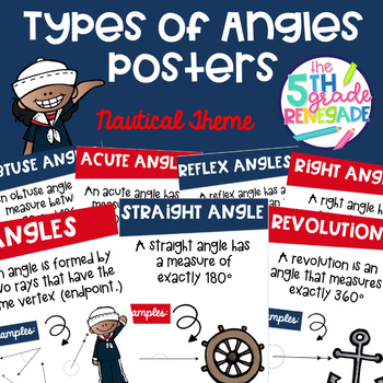 Types of Angles Math Posters with a Nautical Theme