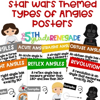 Types of Angles Math Posters with a Star Wars Theme