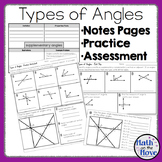 Types of Angles - Notes and Practice
