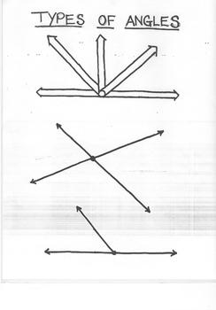 Types of Angles Organizer