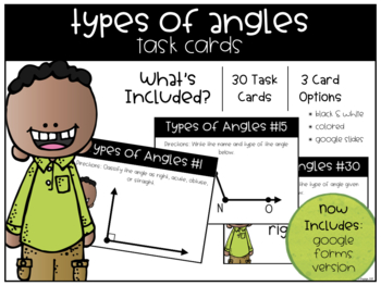Types of Angles Task Cards