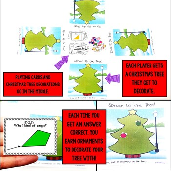 Types of Angles and Triangles Christmas Fourth Grade Math Center