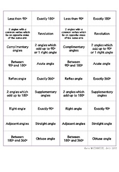 Types of Angles cut n paste activity