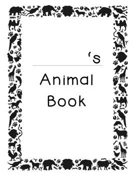 Types of Animals Booklet
