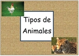 Types of Animals - Classifying - Spanish