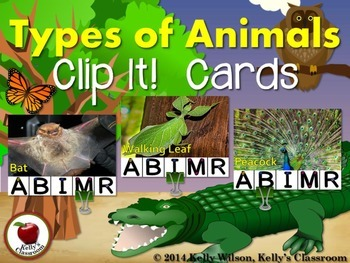 Animal Clip It! Cards