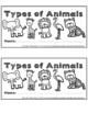 Types of Animals Flip Book Set