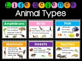 Types of Animals - Life Science Resources