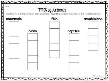 Types of Animals: Task Cards