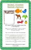 Animal Classes Wanted Posters: mammals, reptiles, amphibia