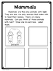 Types of Animals and Their External Body Parts Mini Book - 1-LS1-1
