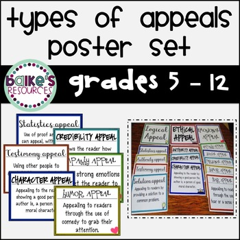 Types of Appeals Poster Set