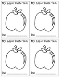 Types of Apples Coloring Sheet