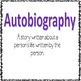 Types of Biographies Scoot games and Powerpoint
