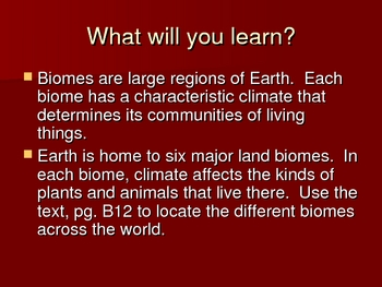 Types of Biomes