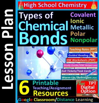 Types of Bonds & Substances; Ionic Covalent Metallic: Guid