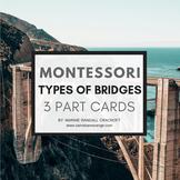 Montessori 3 Part Cards - Types of Bridges