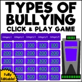 Types of Bullying Jeopardy (Conflict & Arguments) (Distance Learning) (Editable)