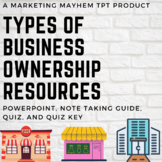 Types of Business Ownership PowerPoint, Note Taking Guide,