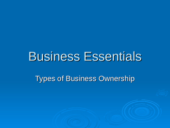 Types of Business Ownership PowerPoint presentation