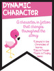 Types of Character Banners in Color with a *Flamingo Tropical* Theme