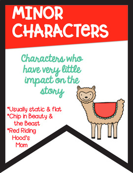 Types of Character Banners in Color with a *Llama Alpaca* Theme