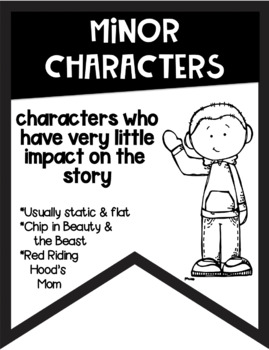 Types of Character Banners with Cute Kids ~Black & White~ For Easy Printing