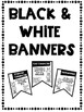 Types of Character Banners with Friendly Monster Theme Color and Black & White