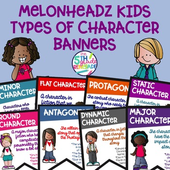 Types of Character Banners with *Melonheadz* Colorful Cute Kids