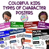 Types of Character Posters ~Colorful Kids Theme~