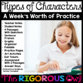 Types of Characters Week Lesson and Practice