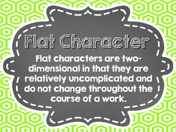 Types of Characters Chalkboard Posters
