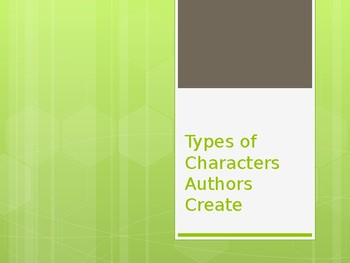 Types of Characters & Characterization PPT