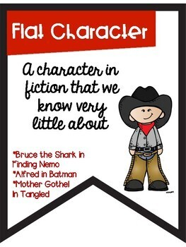 Types of Characters Color Banners with a Cowboy Cowgirl Theme