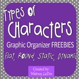Types of Characters Graphic Organizers (Round, Flat, Dynam