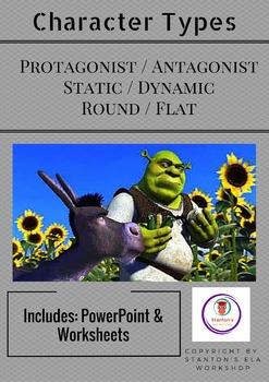 Identify & Analyze Protagonist/Antagonist, Static/Dynamic, Round/Flat Characters