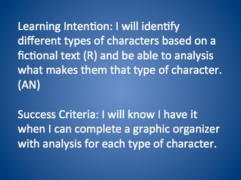 Identify & Analyze Protagonist/Antagonist, Static/Dynamic, Round/Flat Characters