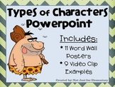 Types of Characters and Characterization Powerpoint