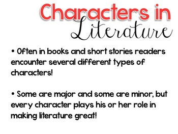 Types of Characters in Literature