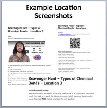 Types of Chemical Bonds – A Digital Scavenger Hunt Activity