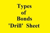 Types of Chemical Bonds 'Drill' Sheet