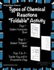 Types of Chemical Reactions Foldable Activity