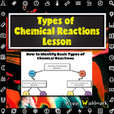 Identifying Types of Chemical Reactions Chemistry Lesson